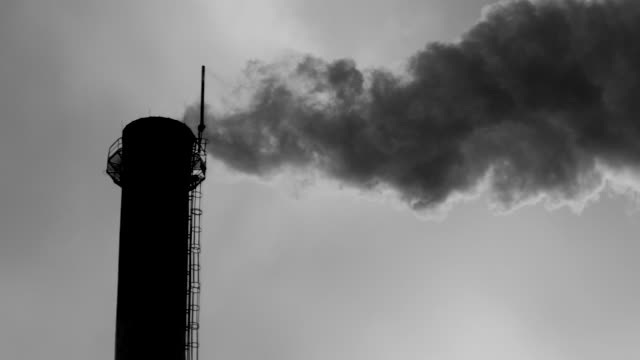pollution black and white - smoke stack stock videos & royalty-free footage