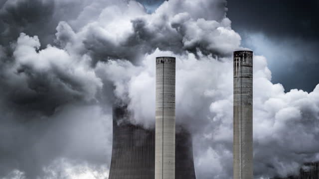 pollution - coal fired power station stock videos & royalty-free footage