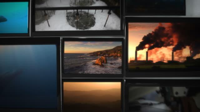 Umweltverschmutzung Video Wall