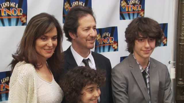 polly draper and family at the opening of 'lend me a tenor' arrivals at new york ny - lend me a tenor stock-videos und b-roll-filmmaterial