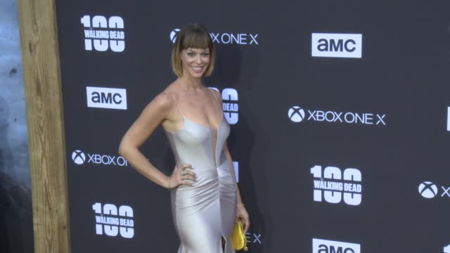 Pollyanna McIntosh at the AMC's 'The Walking Dead' 100th Episode Season 8 Special Premiere Screening at The Greek Theatre on October 22 2017 in Los...