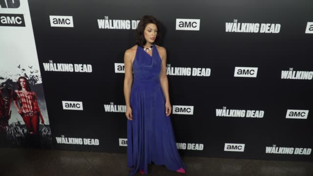 Pollyanna McIntosh at the 'The Walking Dead' Season 9 Premiere at DGA Theater on September 27 2018 in Los Angeles California