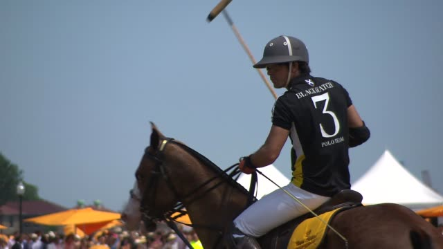 Polo BRoll at Veuve Clicquot Polo Classic 2015 at Liberty State Park on May 30 2015 in Jersey City New Jersey