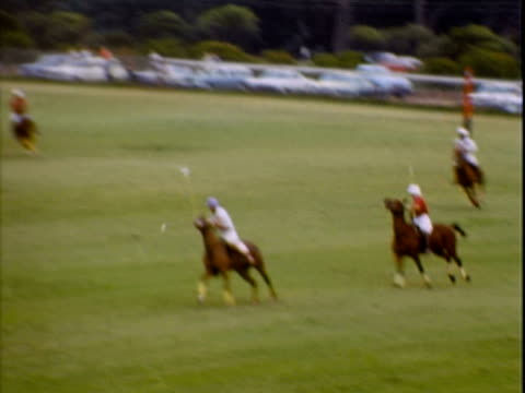 polo players riding across the field making plays - recreational horseback riding stock videos & royalty-free footage