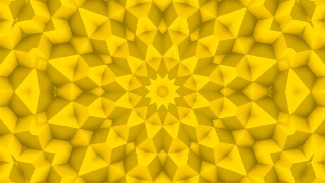 4k poly av gul färg slinga - spetsig bildbanksvideor och videomaterial från bakom kulisserna
