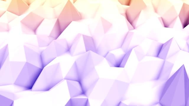 polygonale geometrische oberfläche - in bodenhöhe stock-videos und b-roll-filmmaterial
