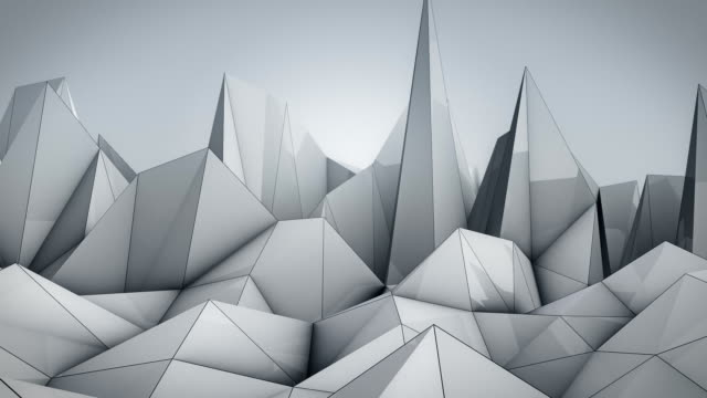 polygonal wave - black and white stock videos & royalty-free footage
