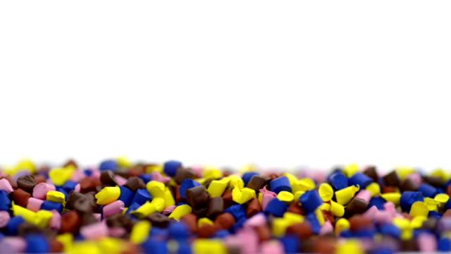 polymer granules macro shot - polypropylene stock videos and b-roll footage