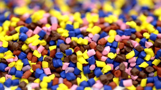 polymer granules macro - polypropylene stock videos and b-roll footage