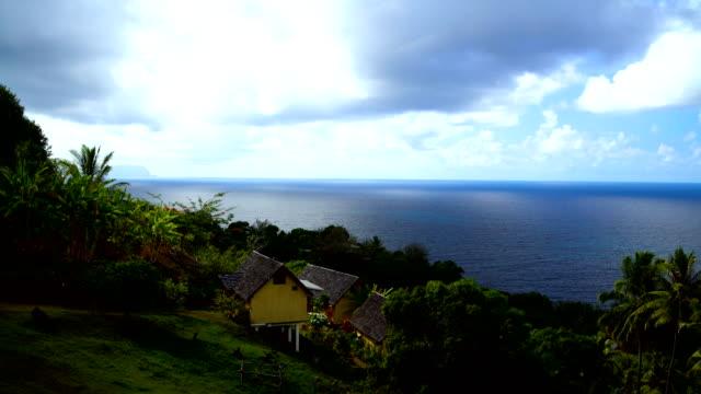 polynesian paradise atuona hiva oa ocean bay marquesas - polynesian ethnicity stock videos & royalty-free footage