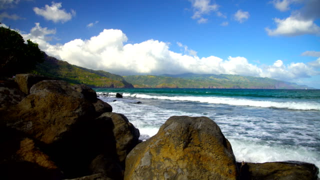 polynesian paradise taaoa hiva oa ocean bay marquesas - remote location bildbanksvideor och videomaterial från bakom kulisserna