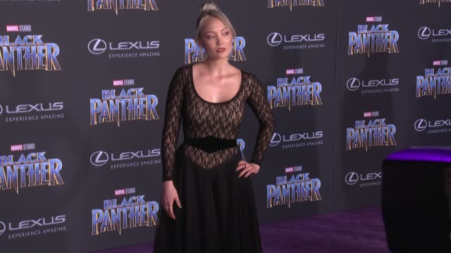 Pom Klementieff at the Marvel Studios' 'Black Panther' World Premiere at Dolby Theatre on January 29 2018 in Hollywood California