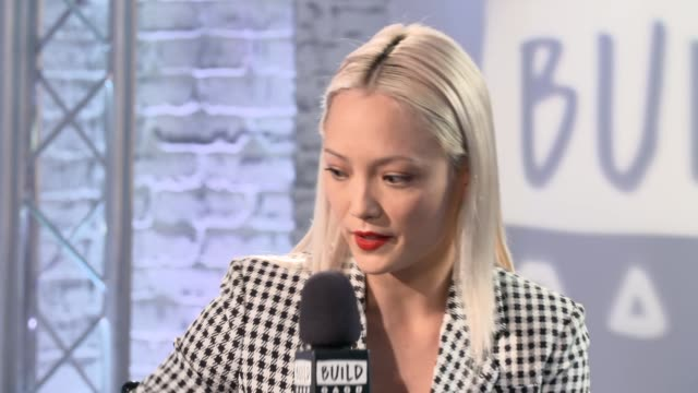 Pom Klementieff on the tree character 'Baby Groot' on April 26 2017 in London England