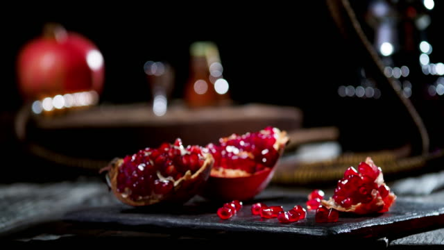 pomegranate and hookah - home decor stock videos & royalty-free footage