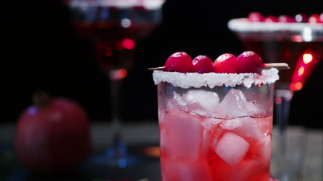 pomegranate cranberry cocktail - cranberry stock videos & royalty-free footage