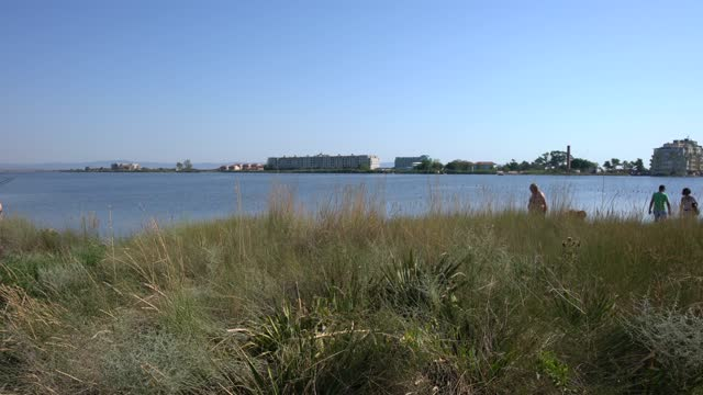 pomorie, bulgaria; august 11, 2020; pomorie lake is a coastal lagoon and nature reserve because of the rich biodiversity. there are also artificial... - spa treatment stock videos & royalty-free footage