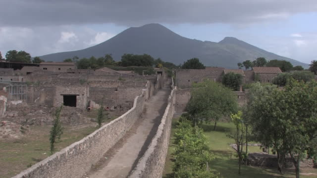 pompeii and vesuvius - old ruin stock videos & royalty-free footage