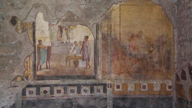 Pompeii, frescoes in the Atrium of a Roman house