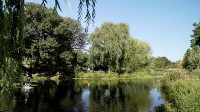 Teich im Londoner Regent Park Queen Mary Garten Bereich