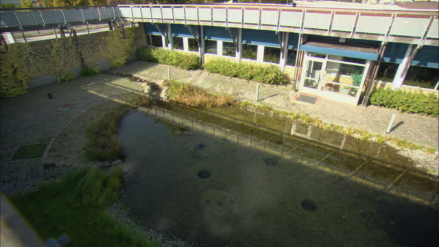 ws ha pond of water in courtyard / malmo, sweden - courtyard stock videos & royalty-free footage