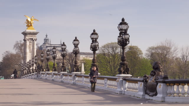pont alexandre iii in paris, france. - pont alexandre iii stock videos & royalty-free footage