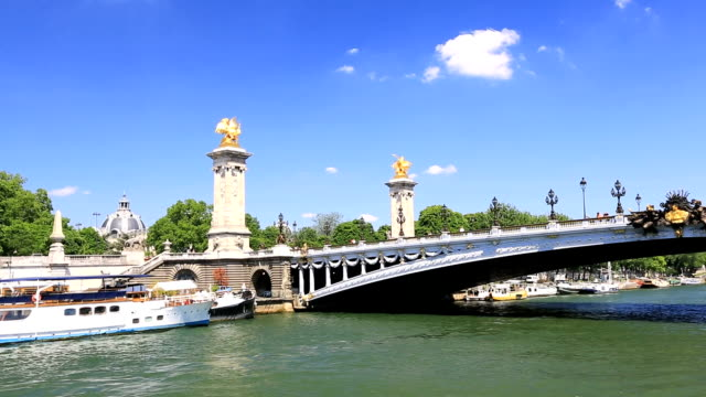 pont alexandre iii in paris - france - pont alexandre iii stock videos & royalty-free footage