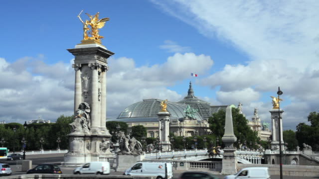 WS Pont Alexandre III with Grand Palais in background, Paris, France