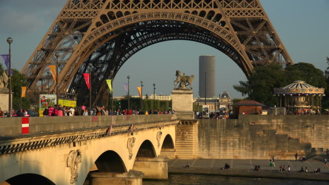 Pont d'Iena, Seine River and Eiffel Tower, Paris, France, Europe