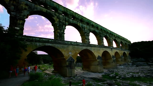 pont du gard - infinity stock videos & royalty-free footage