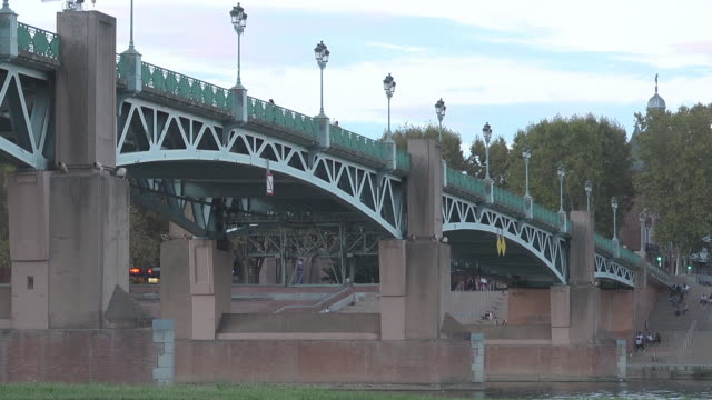 pont saint pierre - toulouse stock videos & royalty-free footage