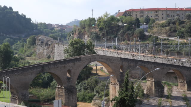 pont vell, manresa - arch stock videos & royalty-free footage