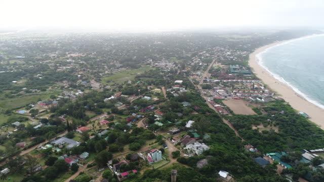 vídeos de stock e filmes b-roll de aerial ponta do ouro/ mozambique - moçambique