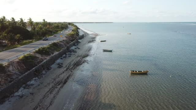 ponta grande beach in porto seguro, bahia, brazil - porto seguro stock videos & royalty-free footage