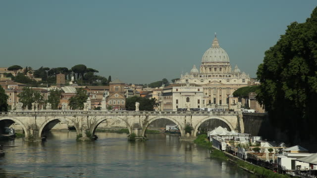 WS Ponte Sant Angelo and St Peter's Basilica / Rome, Italy