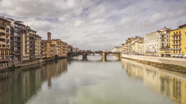 ponte santa trinita in florence, italy. - arch bridge stock videos and b-roll footage
