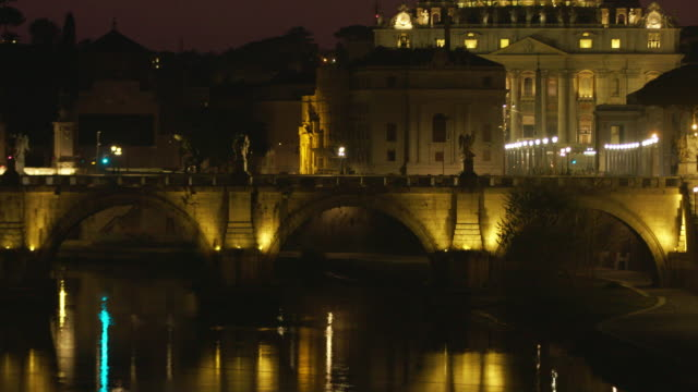ponte sant'angelo - state of the vatican city stock videos & royalty-free footage
