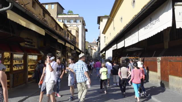 ponte vecchio, florence, italy - ponte stock videos & royalty-free footage