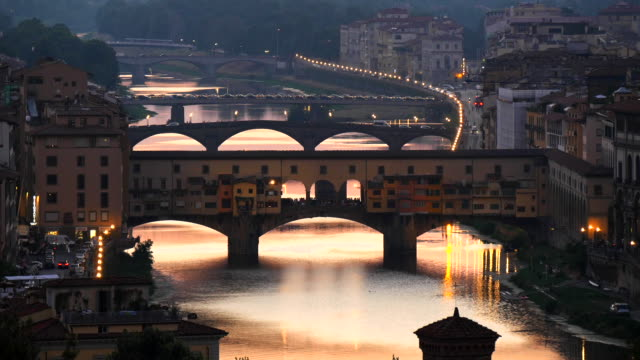 ponte vecchio, florence, tuscany, italy - florence italy stock videos and b-roll footage