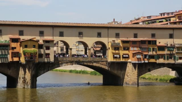 ponte vecchio in florence - ponte stock videos & royalty-free footage