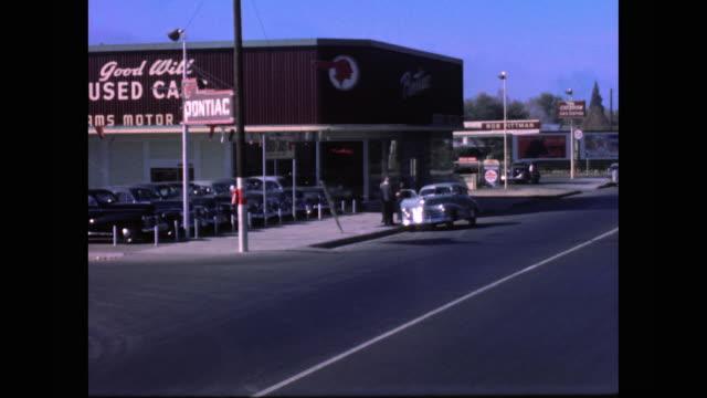 1948 pontiac dealership montage - pontiac stock videos and b-roll footage