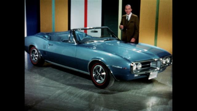 1967 pontiac firebird styling - pontiac stock videos and b-roll footage