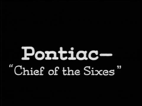 """vidéos et rushes de b/w 1928 slate: """"pontiac-chief of the sixes"""" / industrial - 1928"""