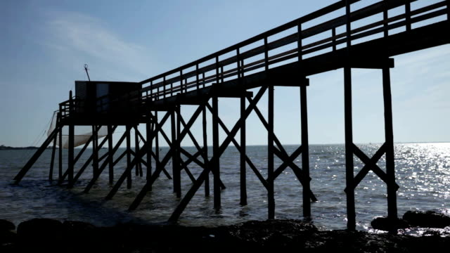 ponton reflet large - hd - floating moored platform stock videos & royalty-free footage