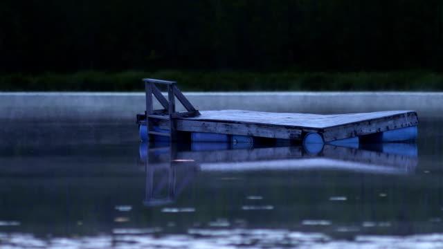 pontoon - floating moored platform stock videos & royalty-free footage