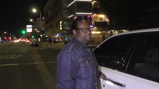 poo bear shares his thoughts on r. kelly & second chances outside the nice guy club in west hollywood in celebrity sightings in los angeles, - r. kelly stock videos & royalty-free footage