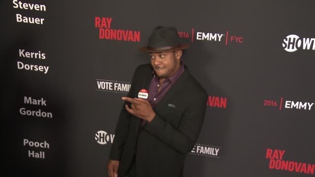 """pooch hall at for your consideration screening and panel for showtime's """"ray donovan"""" - red carpet at paramount theater on the paramount studios lot... - ショータイム点の映像素材/bロール"""