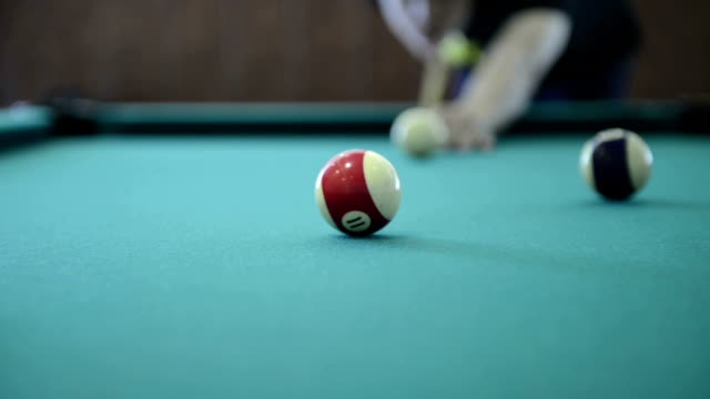 pool and billiard game - hitting stock videos & royalty-free footage