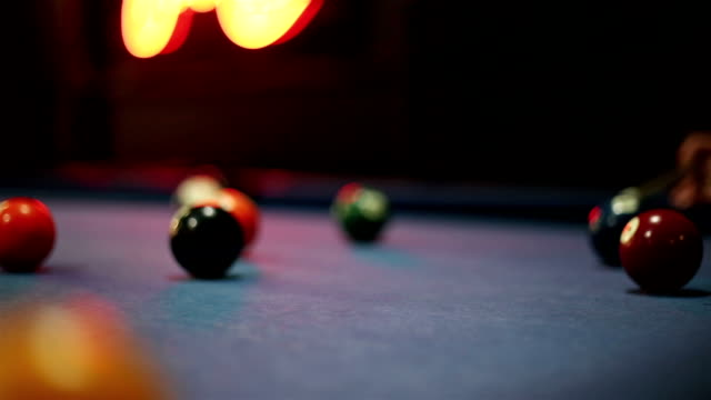pool and billiard game - pool table stock videos & royalty-free footage