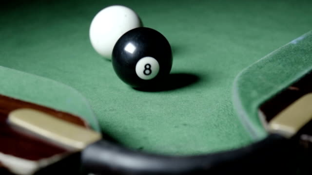 pool ball corner pot shot, slow motion - luck stock videos and b-roll footage