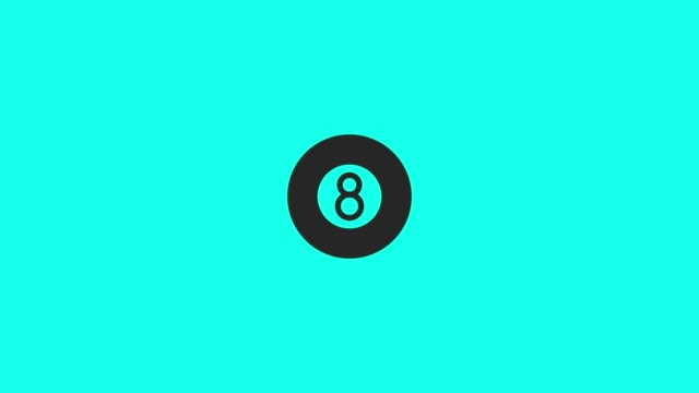 pool ball icons - vector animate - numero 8 video stock e b–roll
